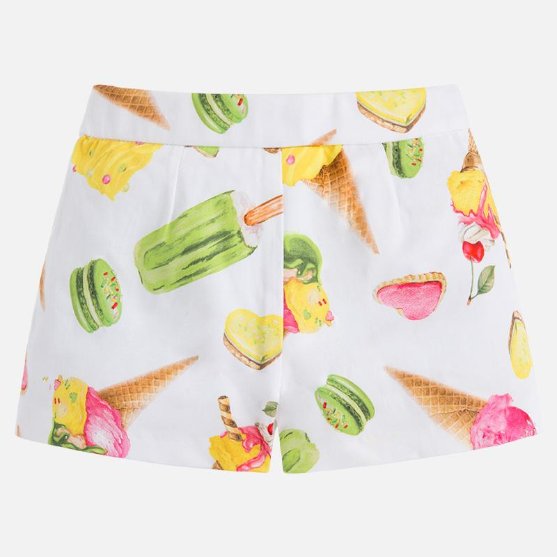 Ice-Cream Print Cotton Shorts