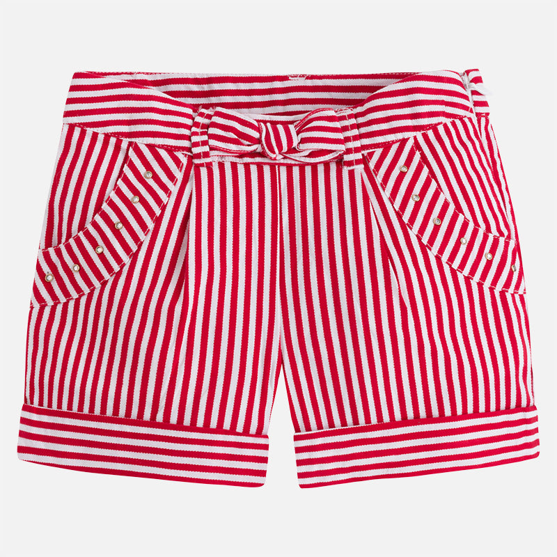 Red & White Stripe Shorts