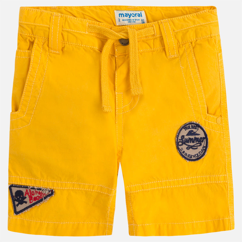 Yellow Patchwork Shorts