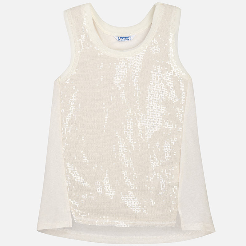 Champagne Sequin Top