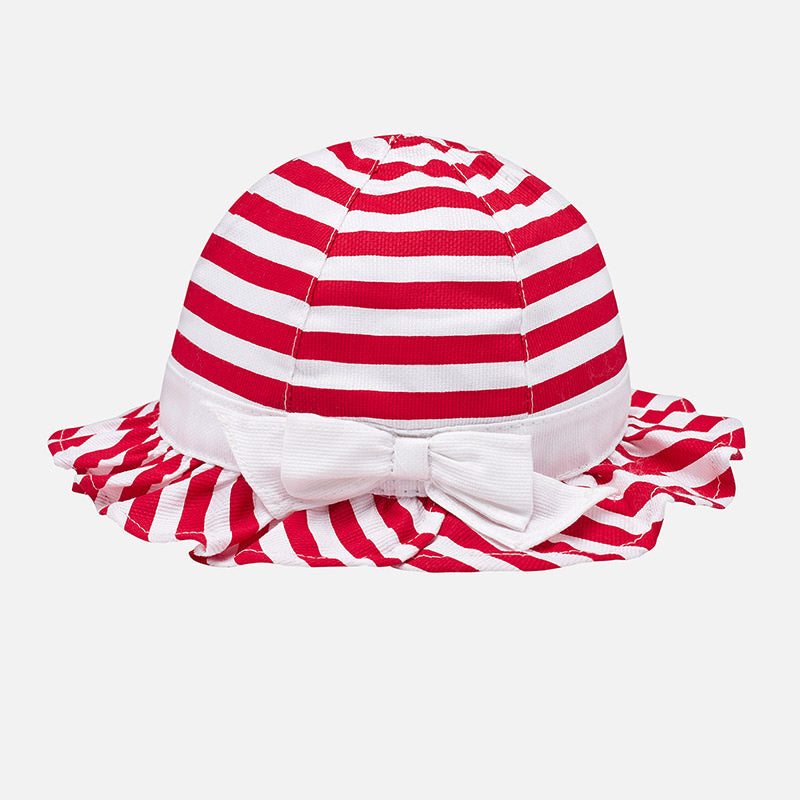 Red & White Stripe Piqué Sun Hat