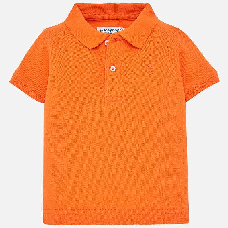 Orange Short Sleeved Polo Shirt