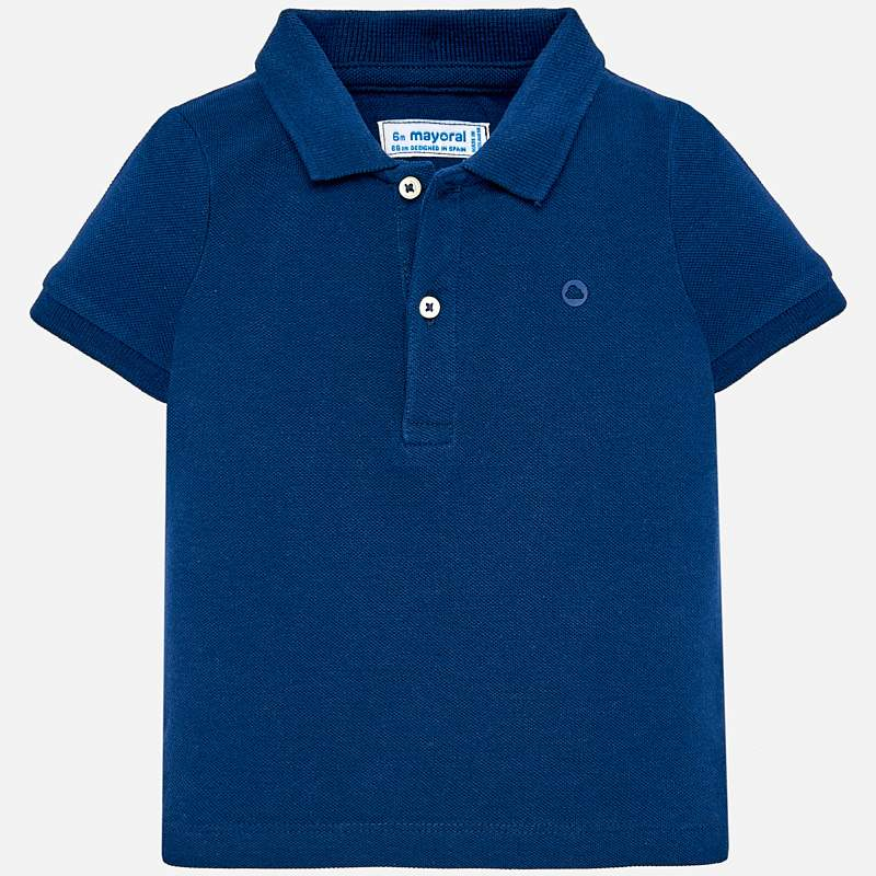 Navy Short Sleeved Polo Shirt
