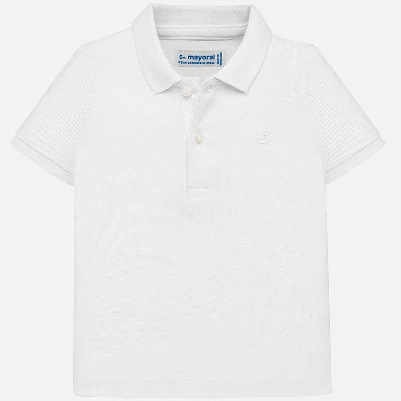 White Short Sleeved Polo Shirt