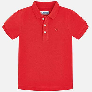 Red Short Sleeve Polo Shirt