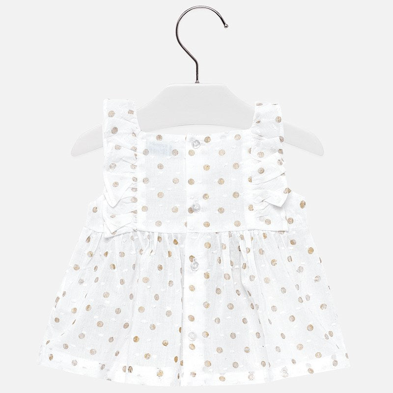 Gold Polka Dot Blouse