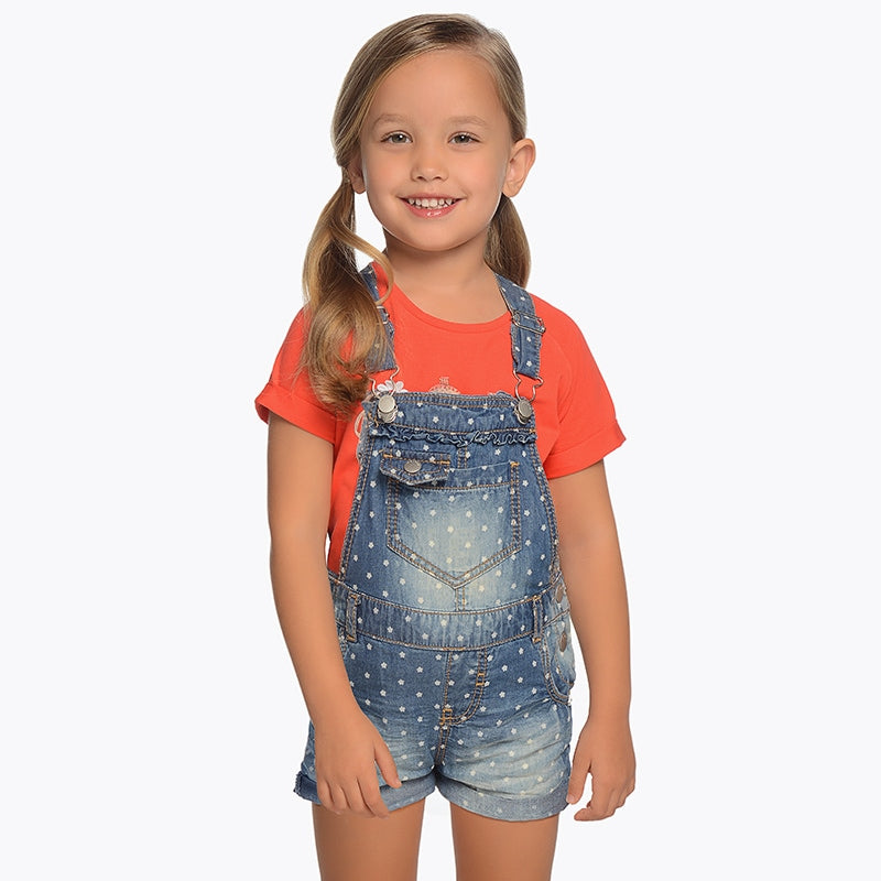 Polka Dot Denim Overalls