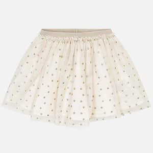 Gold Polka Dot Tulle Skirt