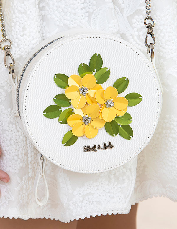 Sequined Flower Bag
