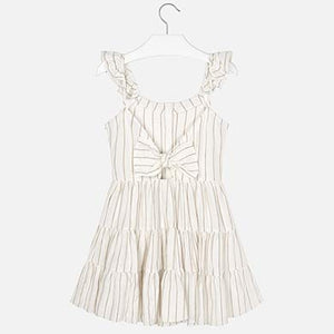 Gold Striped Dress With Straps