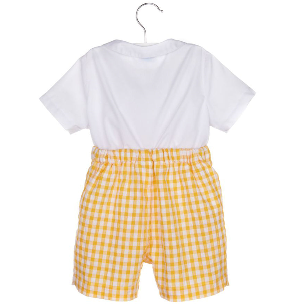 Lemon Gingham Top & Bottom Set