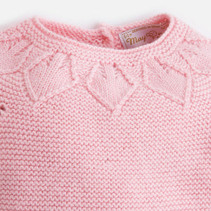 Pink Sweater & Leopard Bloomer Set