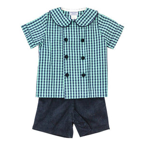Moonlight Plaid Dressy Short Set