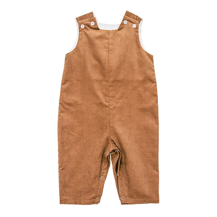 Chocolate Brown Corduroy John John