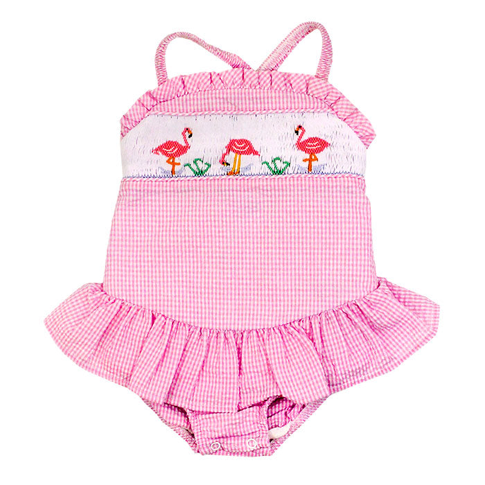 One Piece Flamingo Swimsuit with Ruffle