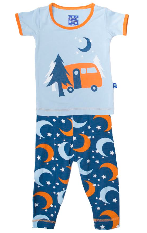 Twilight Moon & Stars Short Sleeve Pajama Set
