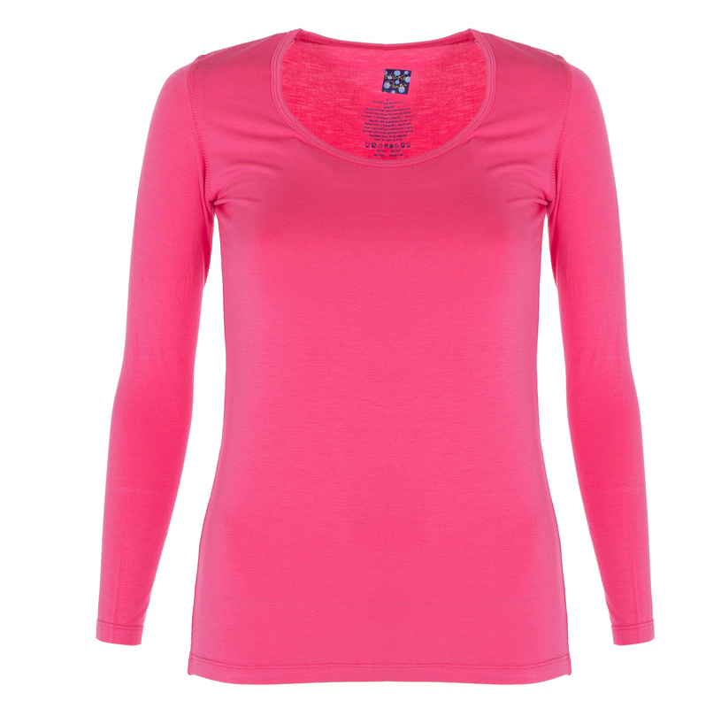Winter Rose Long Sleeve Scoop Neck Tee