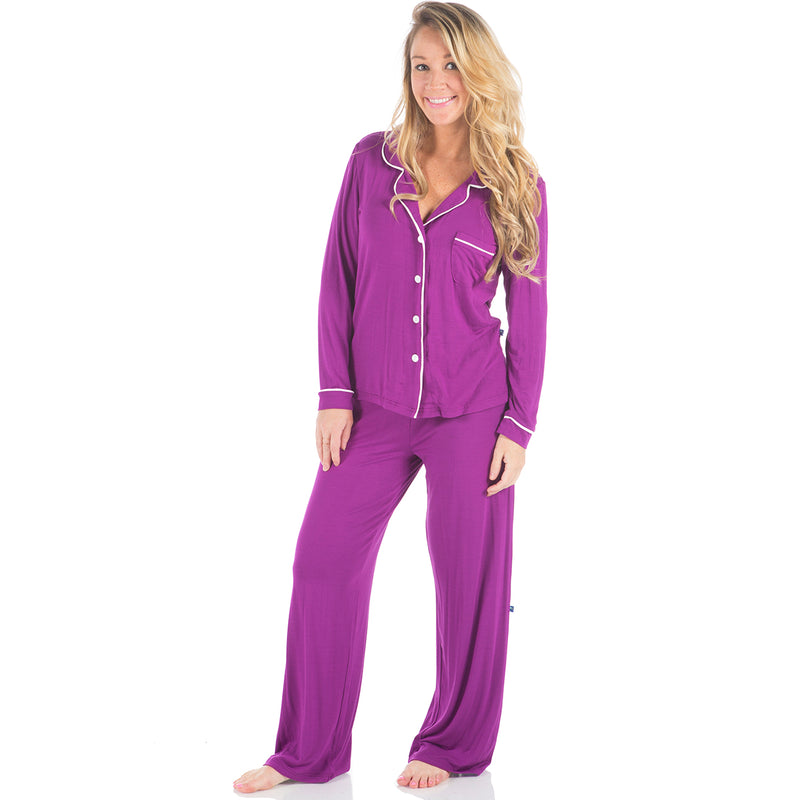 KicKee Pants Starfish Long Sleeved Collared Pajama Set - kkgivingtree