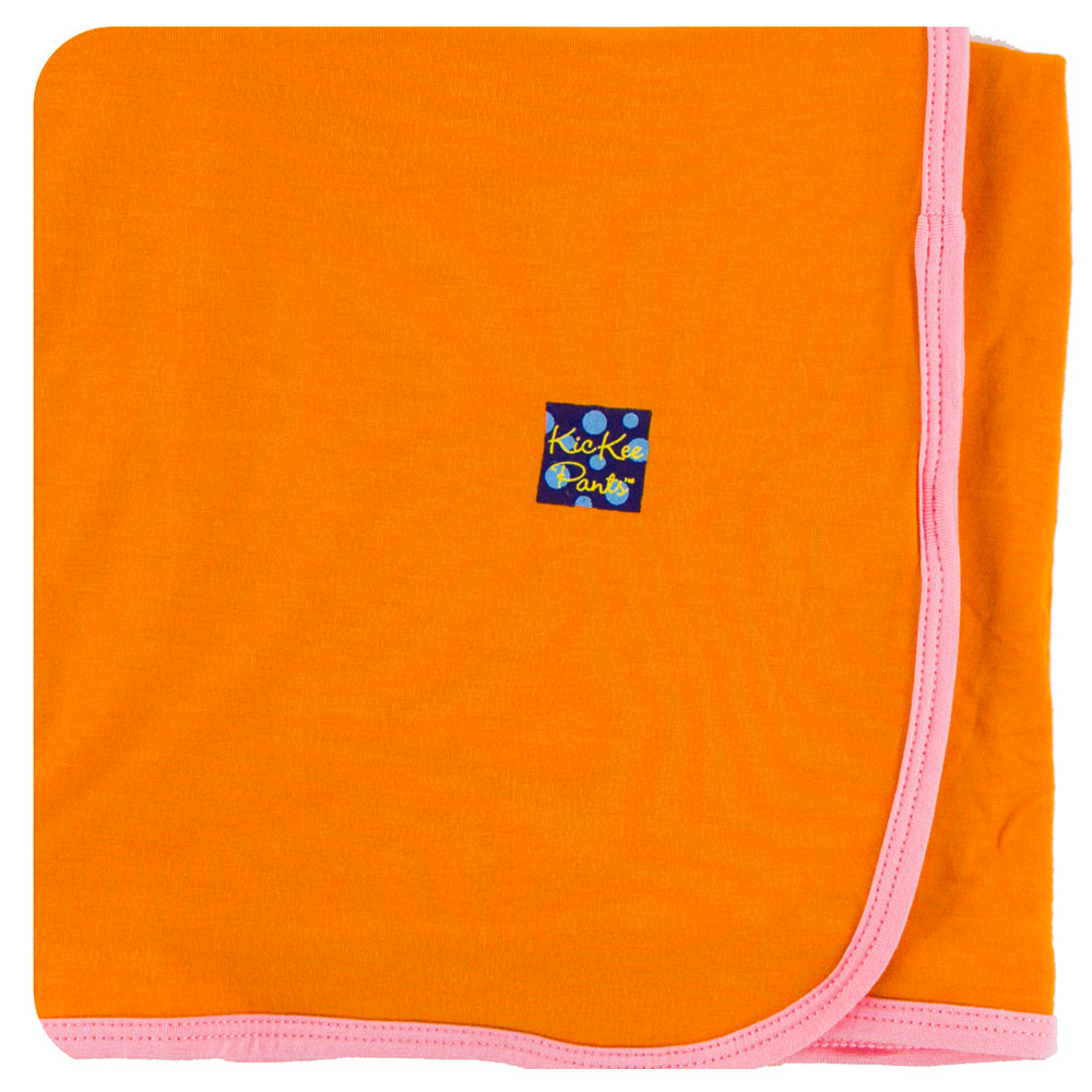KicKee Pants - Sunset with Lotus Trim Swaddle - kkgivingtree - K&K's Giving Tree
