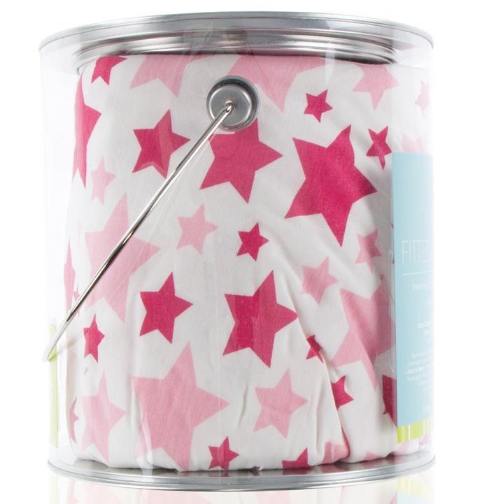 Flamingo Star Fitted Crib Sheet