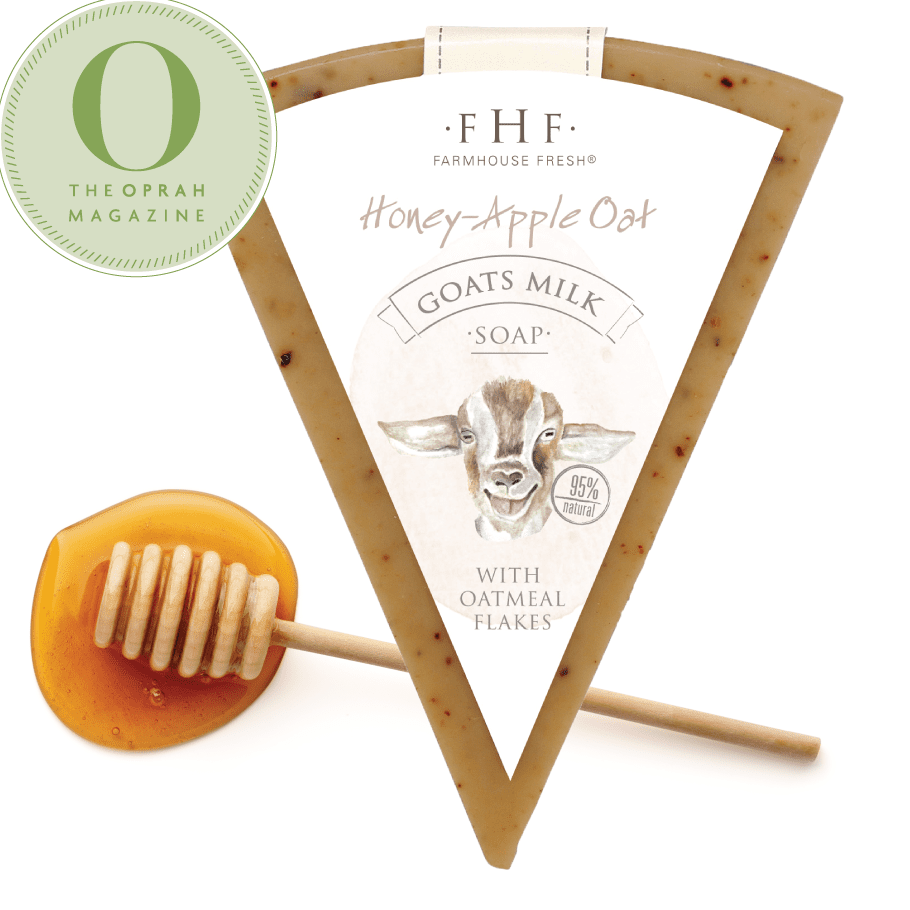 Honey-Apple Oat Goats Milk Soap