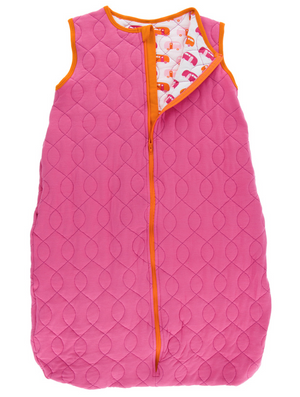 Flamingo w/ Natural Camper Quilted Sleeping Bag
