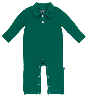 Shady Glade Long Sleeve Polo Romper