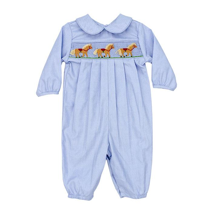 Smocked Horse Dressy Long Bubble