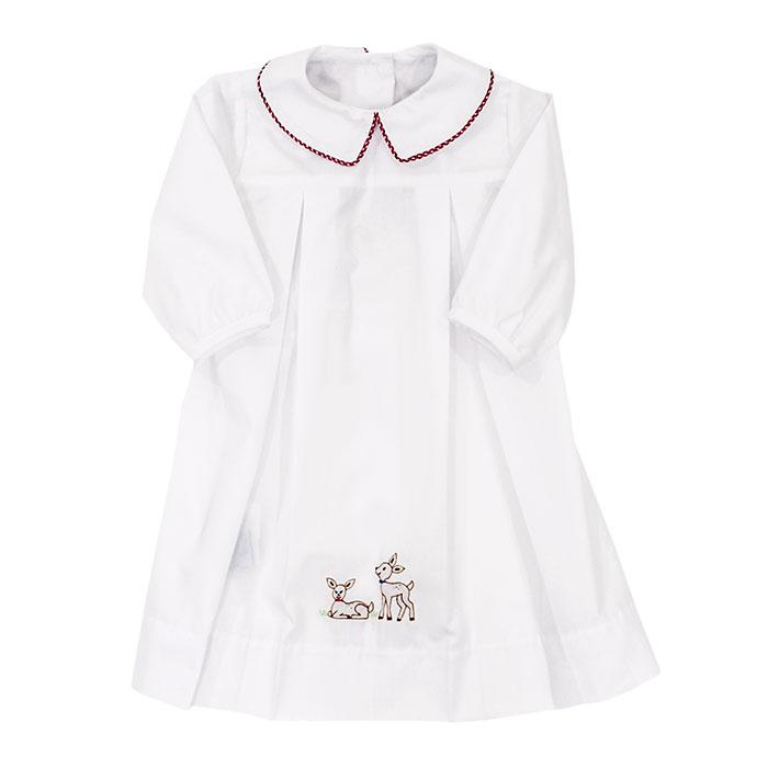 The Smocked Reindeer Collection Day Gown