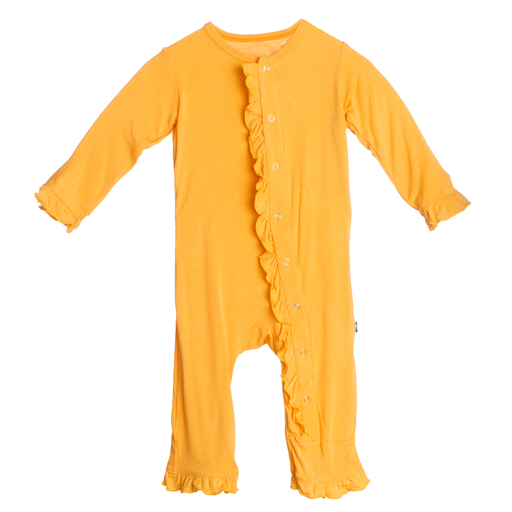 Fuzzy Bee Ruffle Coverall