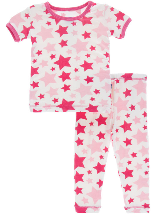 Flamingo Star Short Sleeve Pajama Set