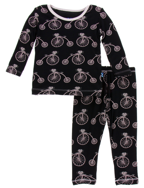 Girl Midnight Bikes Long Sleeve Pajama Set