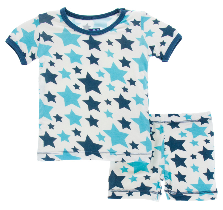 Confetti Star Short Sleeve Pajama Set w/ Shorts