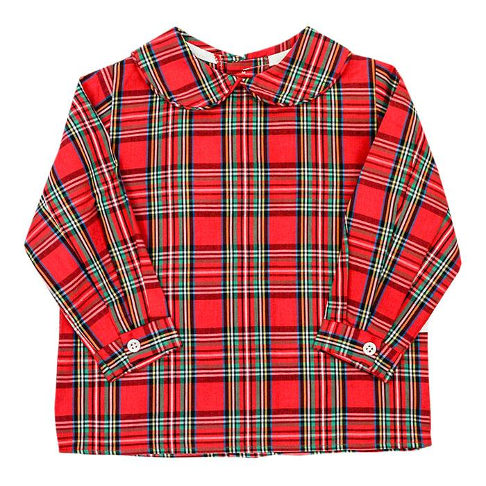 Tartan Plaid Button Back Piped Shirt