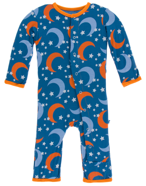 Twilight Moon & Stars Coverall w/ Snaps