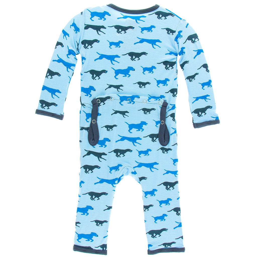 KicKee Pants - Pond Running Labs Coverall with Snaps - kkgivingtree - K&K's Giving Tree