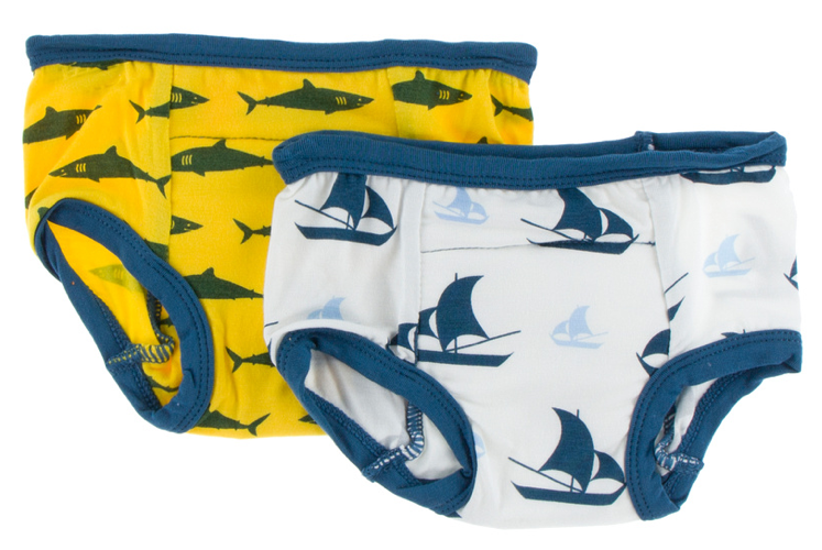 Training Pants Set: Lemon Shark & Natural Sailboat