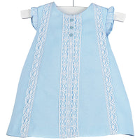 Luli & Me Blue Pique Dress