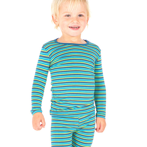 KicKee Pants Boy Anniversary Stripe Long Sleeve Pajama Set - kkgivingtree