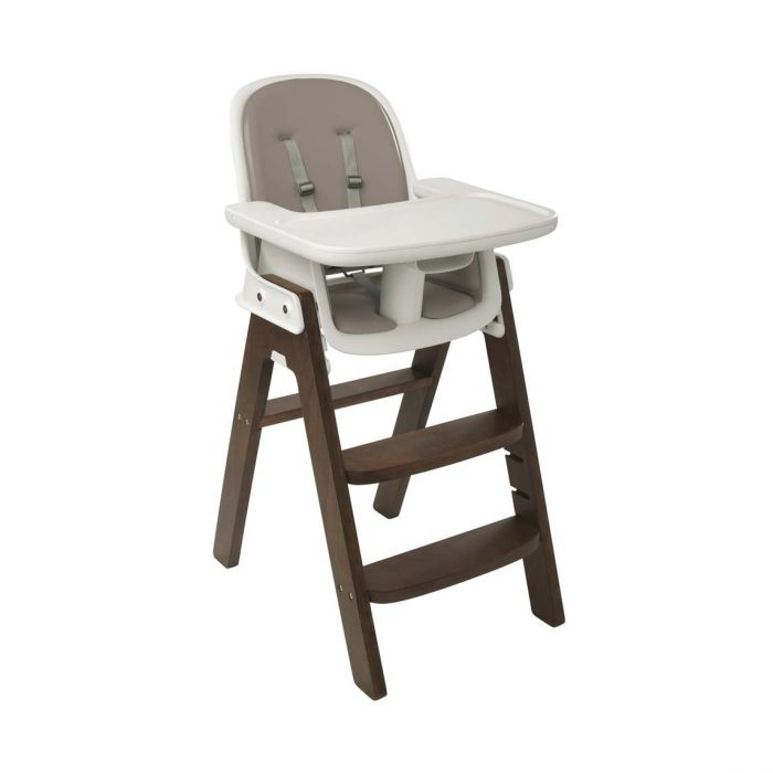 Sprout High Chair Taupe-Walnut