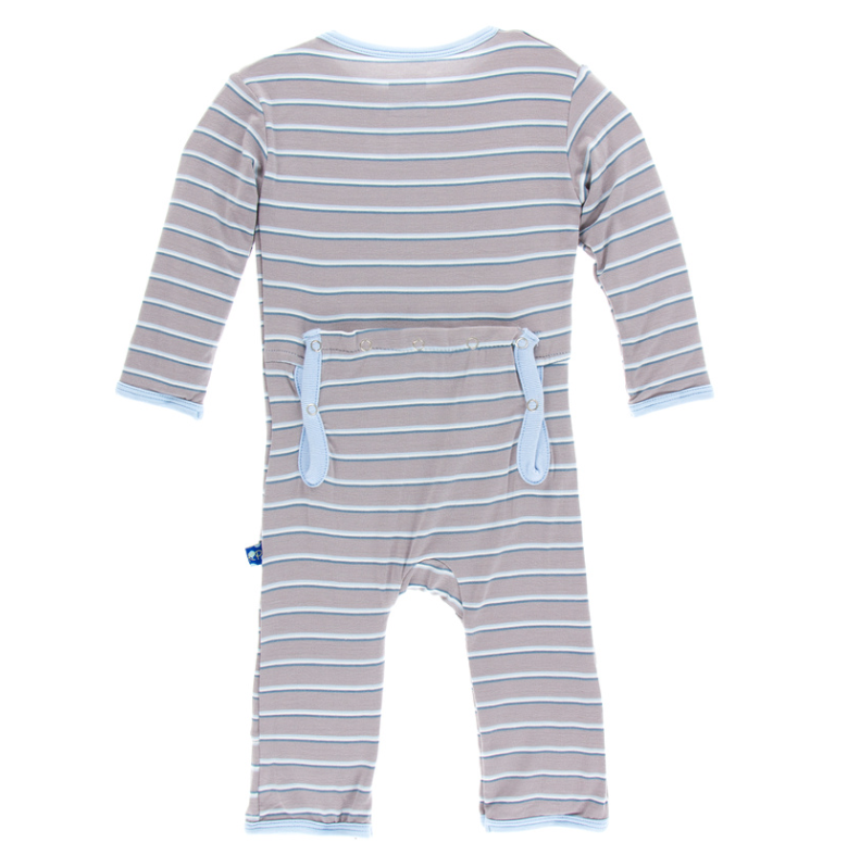 Boy Parisian Stripe Coverall w/ Snaps