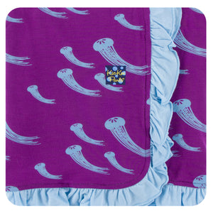 KicKee Pants - Starfish Jellies Ruffle Stroller Blanket - kkgivingtree - K&K's Giving Tree