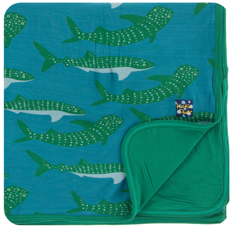 KicKee Pants - Seagrass Whale Shark Toddler Blanket - kkgivingtree - K&K's Giving Tree