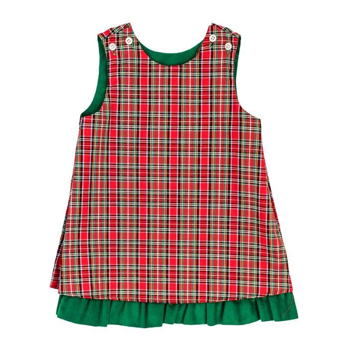Run Rudolph Run Collection - Reversible Jumper Ruffle/Rick Rack