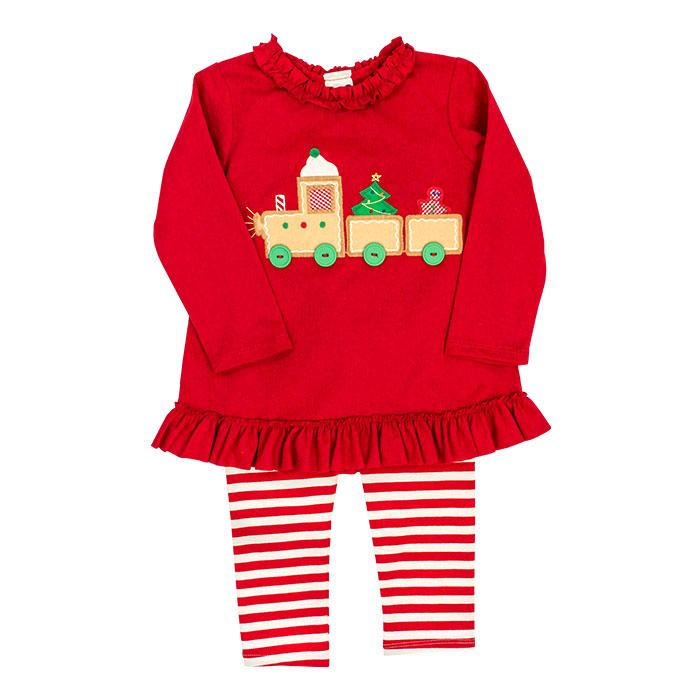 Gingerbread Train Collection - Tunic Pant Set