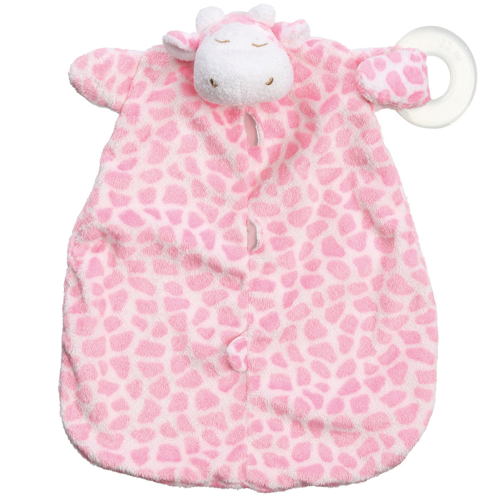 Pink Giraffe Teether Blankie - K&K's Giving Tree