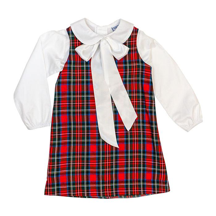 Wales Plaid - Liza Dress with Blouse