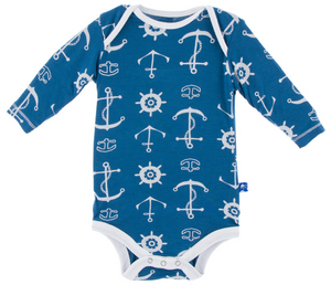 KicKee Pants - Twilight Anchor Long Sleeve One Piece - kkgivingtree - K&K's