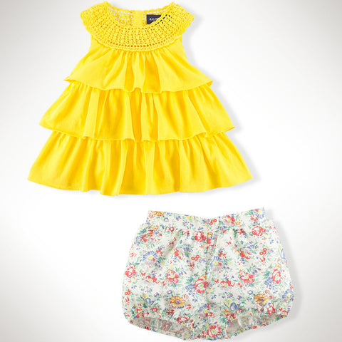 Ralph Lauren - Cotton Tunic & Bloomer Set - kkgivingtree