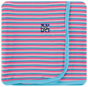 Flamingo Anniversary Stripe Swaddle